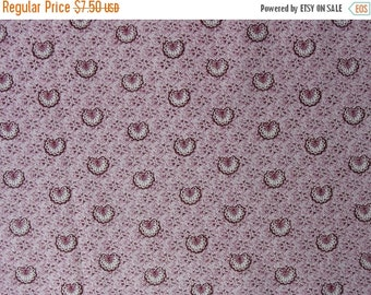 25% OFF Cotton Quilting Fabric Pink Fabric Quilting Cotton Material Tiny Peacocks or Shell Shapes Quilting Material - 1 1/8 Yard - CFL1267