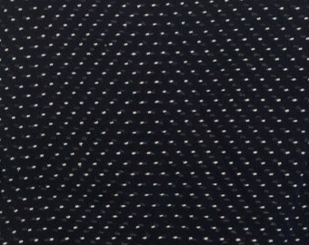 Dotted Swiss / Navy Blue Dotted Swiss Fabric / Vintage Dotted Swiss/ Blue Dotted Swiss / 1.9 Yards
