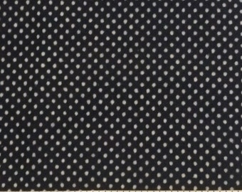 Dotted Swiss / Navy Blue Dotted Swiss Fabric / Vintage Dotted Swiss / Blue Dotted Swiss / 1/2 Yard