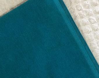 Teal Green Corduroy Fabric 2 and 1/3 Yard