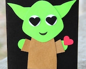 Love Card - Yoda One for Me is great for an anniversary, Valentine's Day, a birthday or Just Because