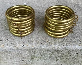 "Large vintage 3"" round  brass rings."