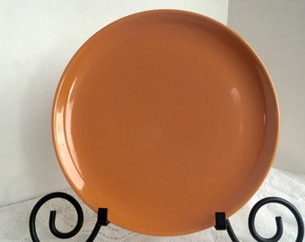 Vintage Rust Orange Dinner Plate in the Ranch Style Pattern by Salem Pottery