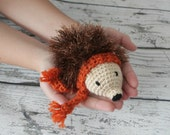 Harriet the Hedgehog, Crochet Hedgehog Stuffed Animal, Plush Animal, Hedgehog Stuffed Toy, Ready To Ship