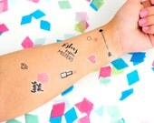 Galentine's Day Temporary Tattoos