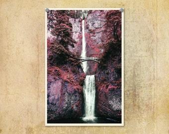 Oregon Photograph | Multnomah Falls Four | Columbia River Gorge | Travel Photograph | Waterfall Print | Nature Photo | Beautiful Oregon