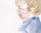 Child Custom Portrait painting, Original portrait watercolor, toddler portrait, baby painting