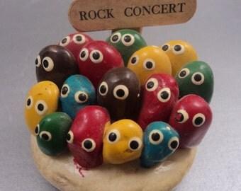 Vintage Rock Band Pet Rock Figurine