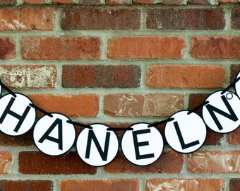 Chanel Inspired Banner, Coco Chanel Birthday Banner