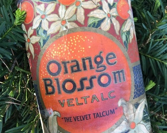 Darling Antique Orange Blossom Talc Tin