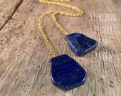 Lapis Lazuli ZEN Wrap Necklace - Sterling Silver
