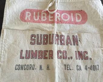 Vintage Lumber Apron Concord NH Ruberoid Surburban Lumber Inc