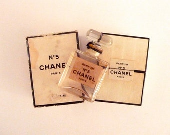 Vintage Chanel No 5 Empty Perfume Bottle