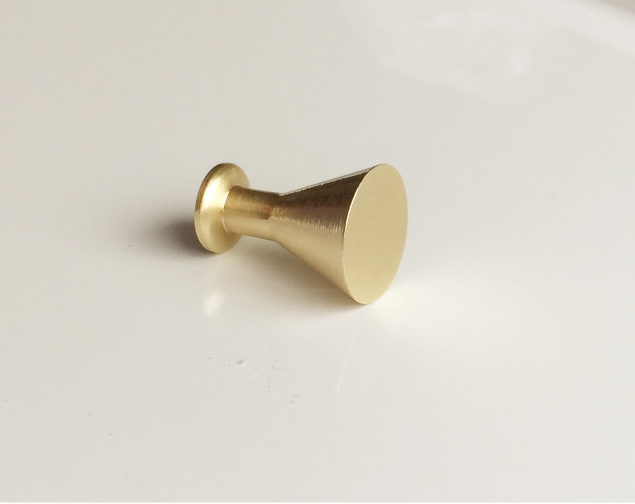 Peggy Satin Brass Cabinet Knob Drawer Pull