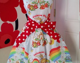 Custom Made to Order Rainbow Brite party Dress Sz Small to 2X