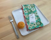 set of 4  reversible cotton napkins, ornaments, christmas gift, holiday gift, housewarming, hostess gift, teal, red