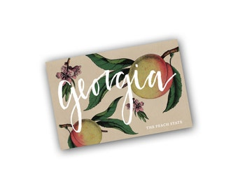 Georgia: Peach State Art Card