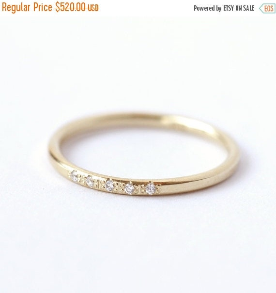 on sale pave ring thin wedding ring by artemer
