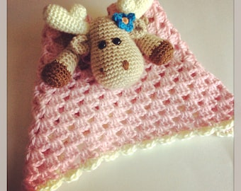 Girly Moose Security Blanket // Made To Order