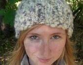 2 chunky knit pom pom hats