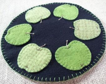 Green Apple Candle Mat