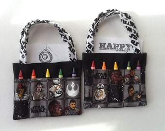Star Wars Children's Crayon Bag and Customized Paper / Birthday Party Favors