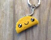 Kawaii Taco Keychain