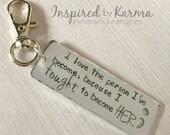 I love the Person I've Become,Semicolon Key Chain,Semicolon Jewelry,Suicide Prevention,Mental Health Awareness Jewelry,Depression,