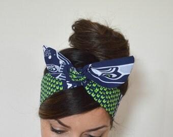 Seahawks, headband, Dolly bow head bands, head band, hair bow