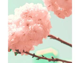 Canvas art, canvas wall art, flower photography, flower print, flower art, cherry blossoms art, bathroom art, bathroom wall art, pink art