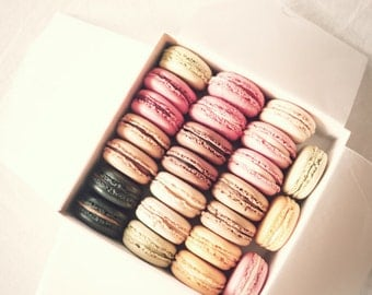 SALE Laduree, macaron, macarons, macroon print, macaroons, art, pink wall art, canvas art, laduree decor, dusty pink, blush wall art, blush