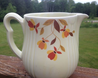 Hall Jewel Tea Autumn Leaf Pitcher Gold Trim