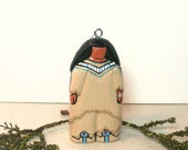 NEW Tree Ornament Native American Indian art doll Hidatsa miniature collectible