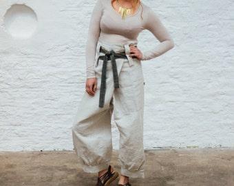 Tie Pants - Linen