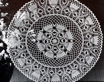 Thread Crochet Doily Pattern, Vintage Doily Crochet Pattern, THISTLEDOWN DOILY, Instant Download