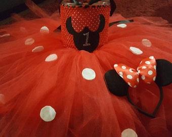 Minnie Moud Birthday Tutu Costume