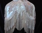 Victorian Lampshade Cream Satin Shabby Lampshade Romantic lampshade