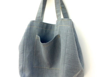 Extra Large Linen Tote Market bag