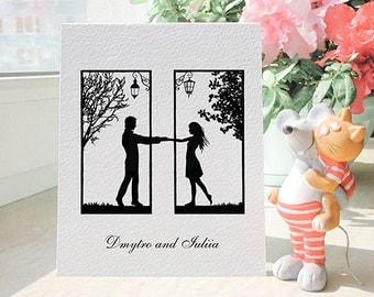 Personalized Greeting Card, Custom Anniversary Gift for Her, Anniversary Gift for Wife, Wedding Card Personalized Stationary, Boyfriend Card