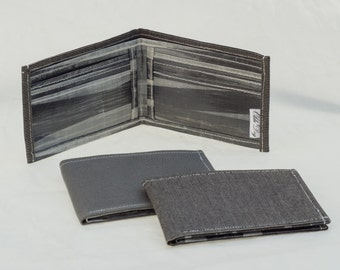 Cuben Fiber, Carbon Fiber, Blended sailcloth wallet, recycled sail billfold, eco wallet