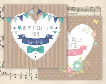 Personalised Son/Daughter/Grandson/Granddaughter card