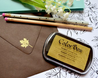 Metallic Gold Ink Pad - Colorbox Pigment Ink pad in Gold