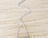 White howlite gemstone bar necklace