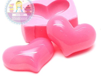 Fat Heart Cabochon Mold 30mm Silicone Mold Flexible Mold Chocolate Mold Candy Mold Fimo Polymer Clay Mold 367L* BEST QUALITY