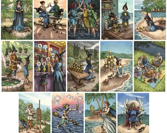 Prints - Everyday Witch Tarot - Choose from Suit of Cups