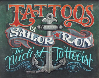 Sailor Ron vintage style Tattoo  Print