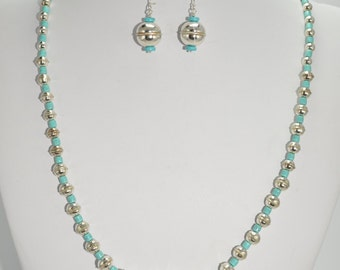 Sleeping Beauty Turquoise and Sterling Set