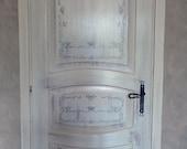 Art Painted door. Made of wood (oak). Various styles, various motives. Hand painted. By Zestria