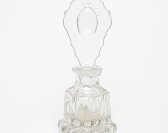 Vintage Clear Glass Perfume Bottle