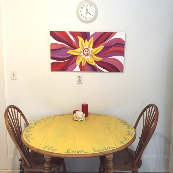 Shabby Chic Kitchen Table: Items Similar To Drop Leaf Shabby Chic Kitchen Table